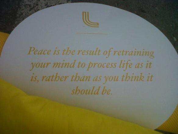 Peace is the result…